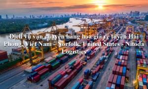 Dịch vụ vận chuyển hàng giá rẻ từ Hải Phòng, Việt Nam - Norfolk, United States