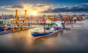 Dịch vụ vận chuyển hàng uy tín từ Norfolk, United States - Hải Phòng, Việt Nam