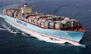 Tàu Maersk Eindhoven bị mất 260 container do thời tiết khắc nghiệt trên Thái Bình Dương